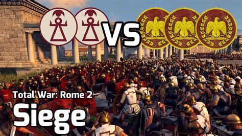 the siege of carthage total war rome 2 battle 17 2v3 siege siege of