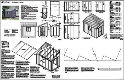 8x10 shed plans pdf 6 x10 slant lean to style shed plans see sles ebay