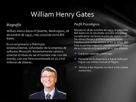 Bill Gates Resumen Biografia by Los Piratas De Silicon Valley
