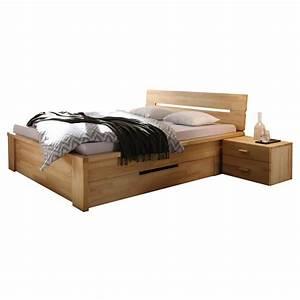 200 X 200 Cm Bett : bett roros 200x200 mit schubladen in kernbuche massiv ge lt ~ Indierocktalk.com Haus und Dekorationen