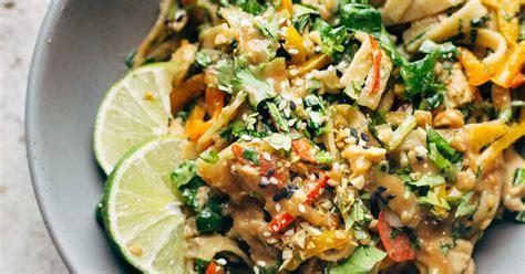 thai salad thai noodle salad with peanut lime dressing recipe pinch of yum