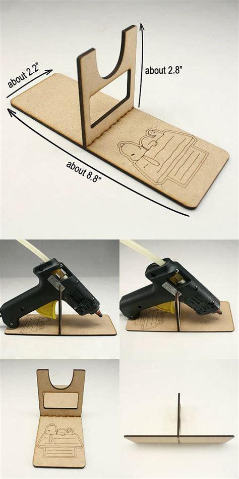 piece hot glue gun holder glue gun stand wooden glue