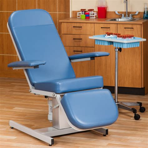 reclining blood drawing chair power phlebotomy chair