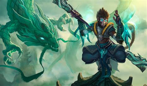 league  legends wallpapers jade dragon wukong wall paper