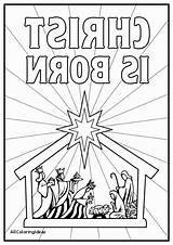 Coloring Jesus Manger Pages Nativity Christmas Story Getcolorings Printable Nativ sketch template