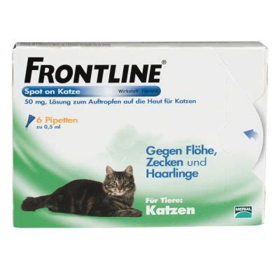 frontline spot  katze jetzt guenstig bei zooplus
