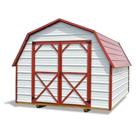 cotton state barns metal barn white red cotton state barns