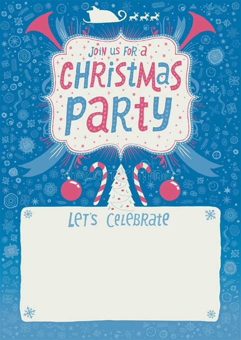 Christmas Party Invitation Greeting Card Poster Or