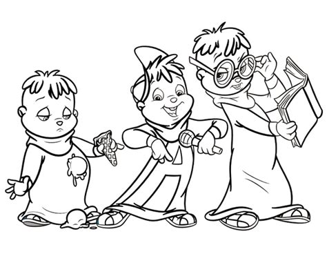 Alvin And The Chipmunk Coloring Pages Alvin And The Chipmunks Coloring Book