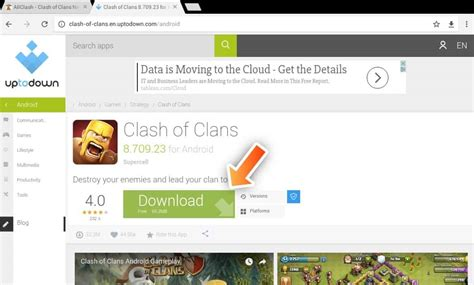 install clash of clans apk right update version tutorial