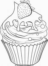 Coloring Cupcake Adults Ice Cream Drawing Cupcakes Printable Colouring Drawings Lovesmag Truffles Sweet Sheets sketch template