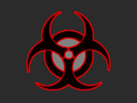 biohazard symbol wallpaper
