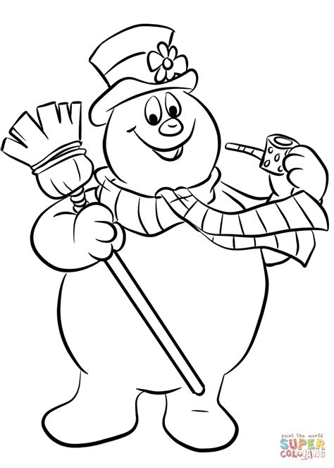 snowman coloring page frosty the snowman coloring page free printable coloring