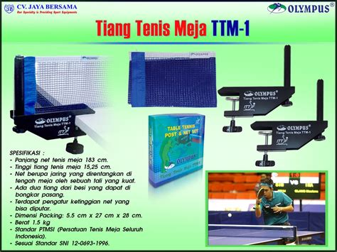 alat olahraga tenis meja tiang net tenis meja olympus ttm 1 agen alat olahraga