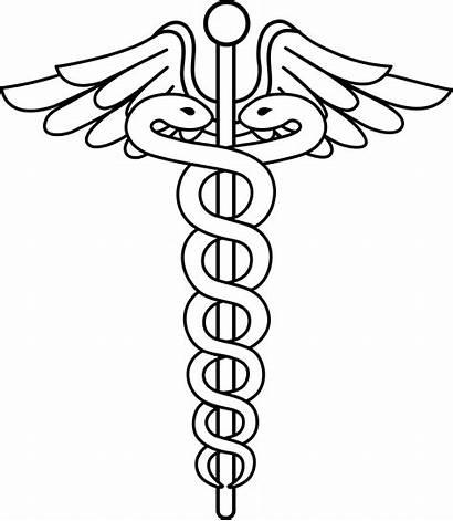 Caduceus Clip Line Medical Health Sweetclipart