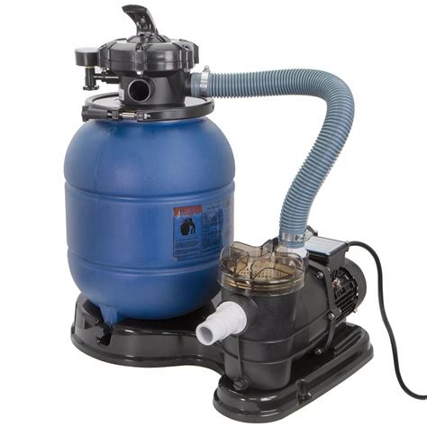 """2400gph 13"""" Sand Filter 34 Hp Above Ground Swimming Pool"""
