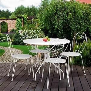 Table Ronde Aluminium : table ronde blanche en m tal diam tre 95 cm dya ~ Teatrodelosmanantiales.com Idées de Décoration