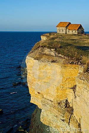 house  seaside cliff royalty  stock  image