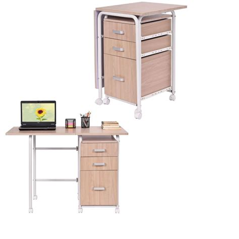 writing desk with wheels portable convertible folding desk writing computer dorm