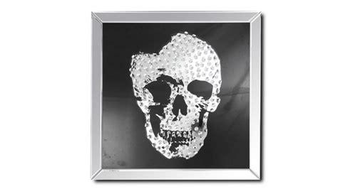 chambre design moderne tableau miroir carré avec tête de mort aratika mobilier moss