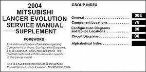 2004 Mitsubishi Lancer Evolution Wiring Diagram Manual Original
