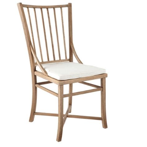 spindle back weathered oak dining chair from oka dining