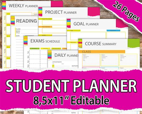 planners for college students college student planner 2017 2018 student planner 2017 2018