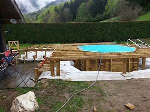 terrasse bois autour d une piscine octogonale nos conseils With terrasse en bois autour d une piscine hors sol