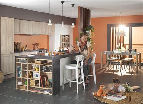 deco cuisine bois clair meuble de cuisine gris