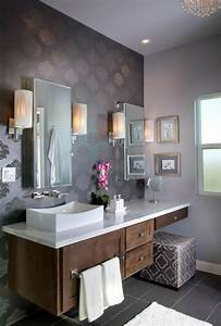 Soft Purple Bathroom Design Ideas - love the pattern/color ...