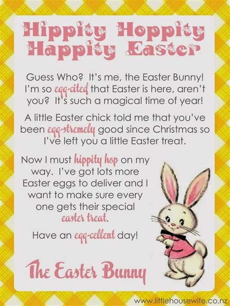 Letter To Easter Bunny Template by Letter From The Easter Bunny