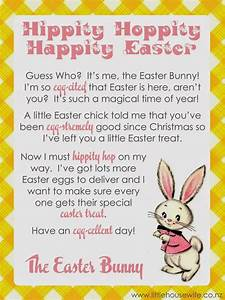 little housewife letter from the easter bunny With letter to easter bunny template