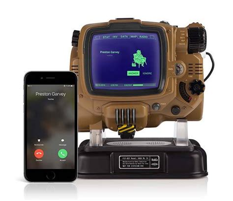 fallout  bluetooth enabled pip boy replica lets