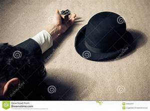 Dead Man And Hat On Floor Stock Photo - Image: 39364431