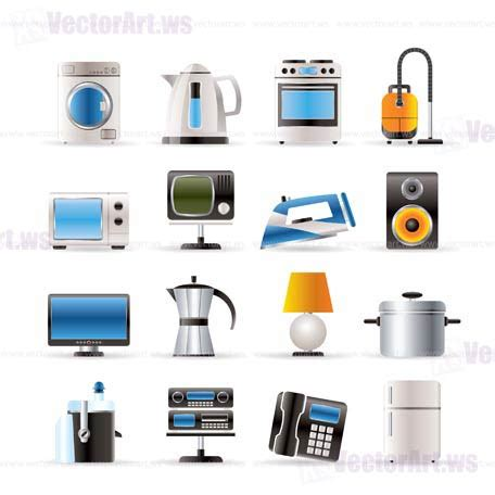 machines for home home equipment icons vector icon set vector