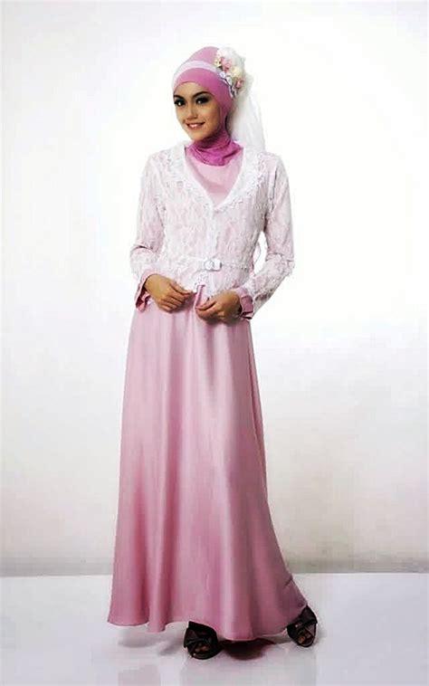 baju muslim brokat gamis  populer model baju