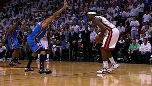 """""""Leg Cramps"""" LeBron James Hits Clutch 3 (2012 NBA Finals ..."""