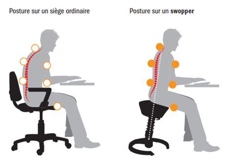 bonne posture au bureau swopper shop chaise siège de bureau ergonomique et