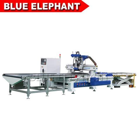 automatic loading  unloading wood working machine blue elephant cnc machinery