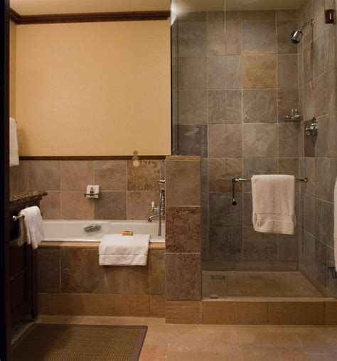 rustic walk  shower designs doorless shower designs