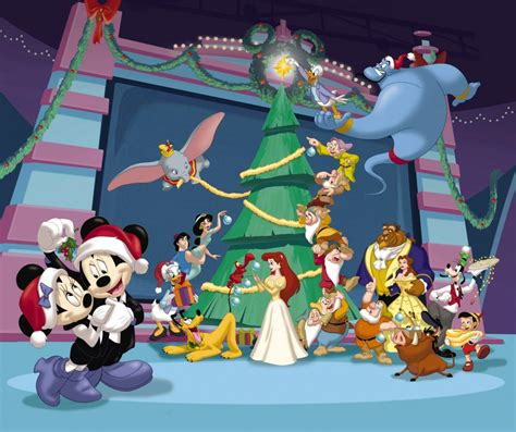 disney mickey mouse christmas cartoon wallpaper