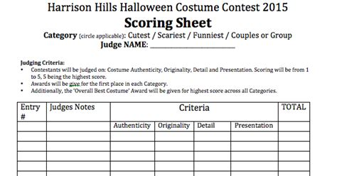 halloween contest judging sheet - OnlyOneSearch Results