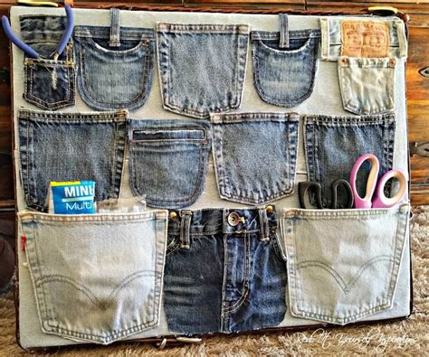 repurposing  jeans  diy denim projects