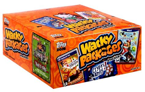wacky packages card trading packs box topps