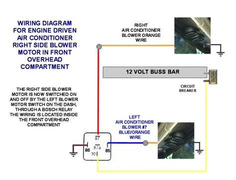 Engine Air Conditioner Right Blower Wiring Diagram Photo