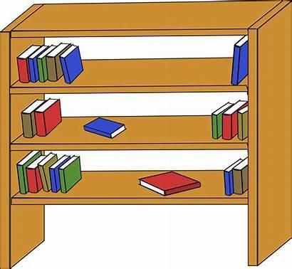 Shelf Clipart Clip Books Bookcase Open