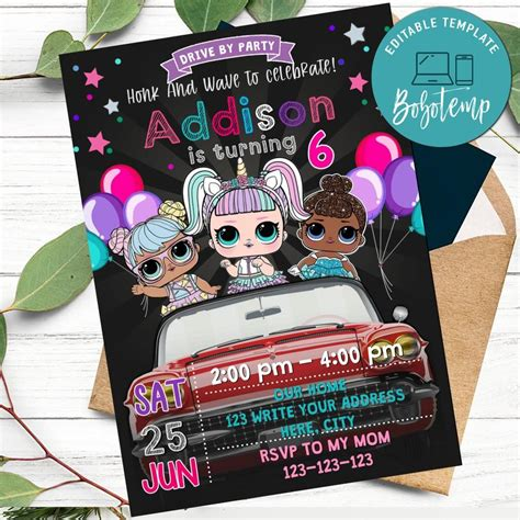 Personalize Lol Surprise Dolls Drive By Birthday Parade