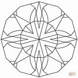 Coloring Kaleidoscope Adults Minecraft Onlycoloringpages Printable Popular Predator Coloringdoo sketch template