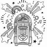 Coloring Jukebox Mandala Journal Uploaded User Retro sketch template