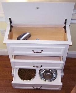 Bailey pet furniture with hidden storage crazy or for Dog food storage furniture